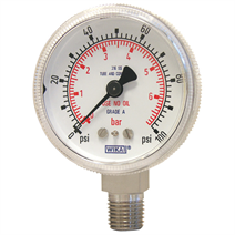 Bourdon tube pressure gauge, HP, model 130.15.2""