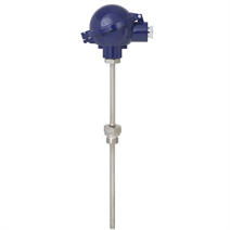 Threaded RTD sensor model TR10-C with fabricated thermowell